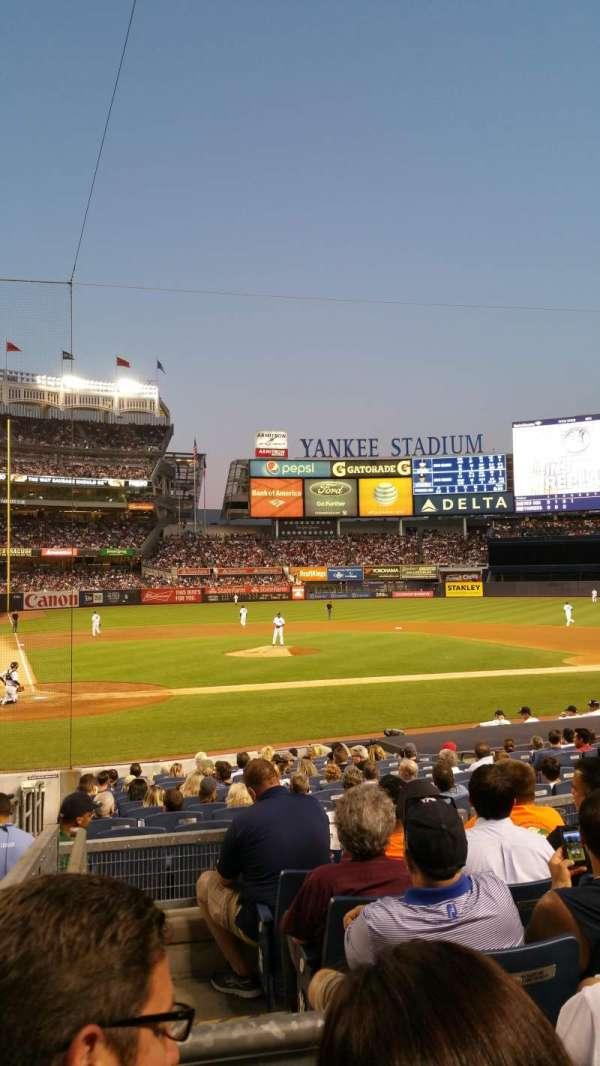 Yankee Stadium, secção: 117B, fila: 17, lugar: 14