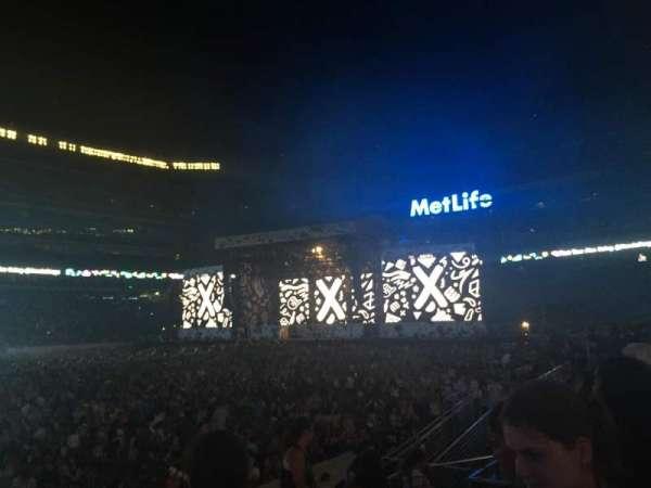 MetLife Stadium, secção: 115A, fila: 8, lugar: 12