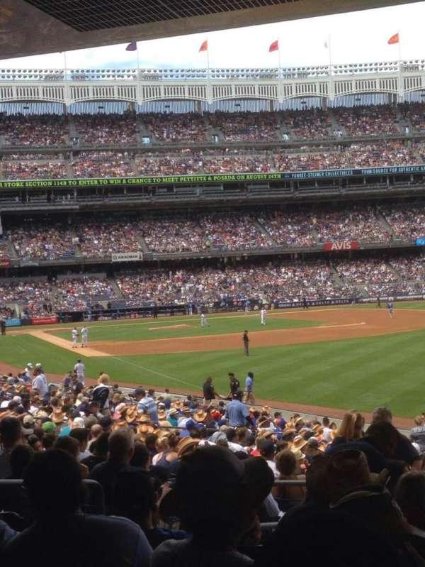 Yankee Stadium, secção: 108, fila: 26, lugar: 9