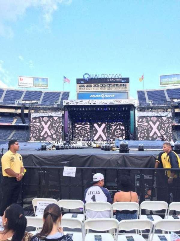 San Diego Stadium, secção: B4, fila: 29, lugar: 30