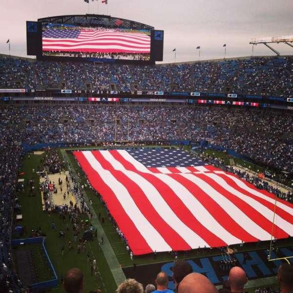 Bank of America Stadium, secção: 531, fila: 9, lugar: 18