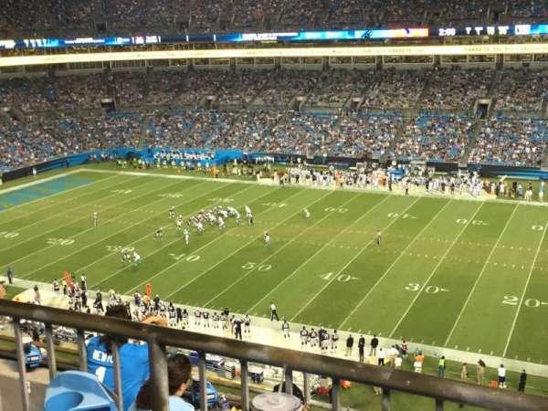 Bank of America Stadium, secção: 512, fila: 1, lugar: 13