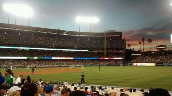 Dodger Stadium, secção: 42FD, fila: J, lugar: 5
