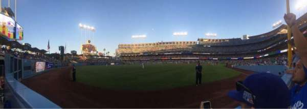 Dodger Stadium, secção: 51fd, fila: AA, lugar: 8
