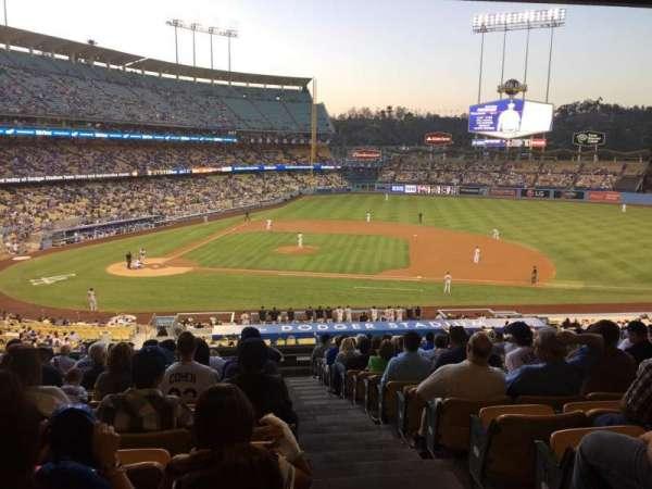 Dodger Stadium, secção: 130lg, fila: S, lugar: 8