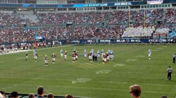 Bank of America Stadium, secção: 119, fila: 18, lugar: 11