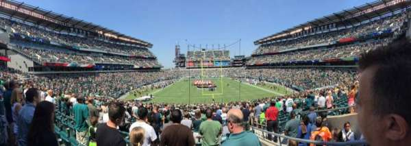 Lincoln Financial Field, secção: 110, fila: 36, lugar: 2