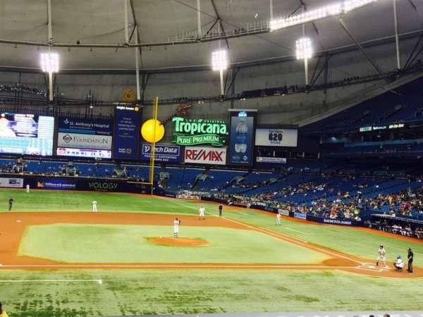 Tropicana Field, secção: 115, fila: FF, lugar: 1