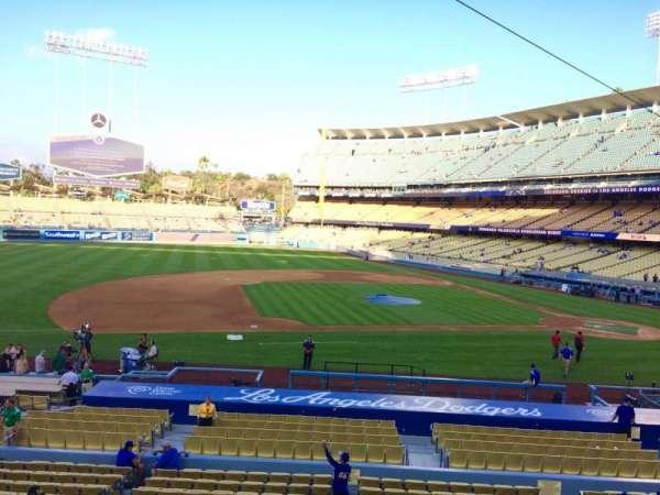 Dodger Stadium, secção: 133LG, fila: A, lugar: 7
