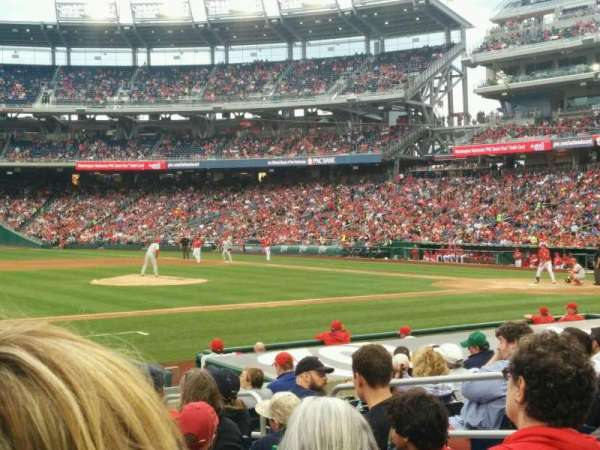 Nationals Park, secção: 115, fila: N, lugar: 7