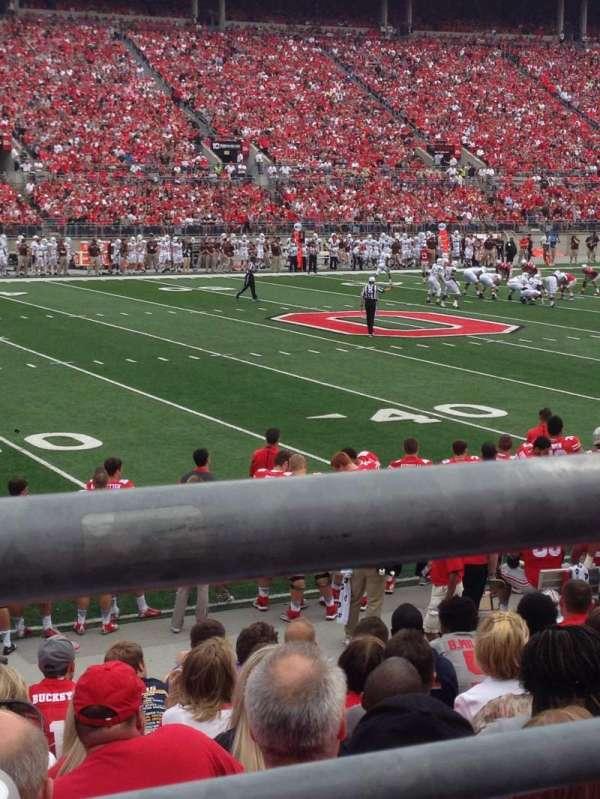 Ohio Stadium, secção: 17AA, fila: 11, lugar: 7