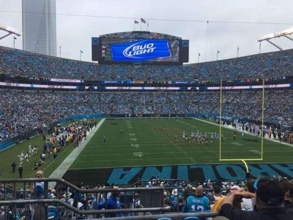 Bank of America Stadium, secção: 202, fila: 8, lugar: 23
