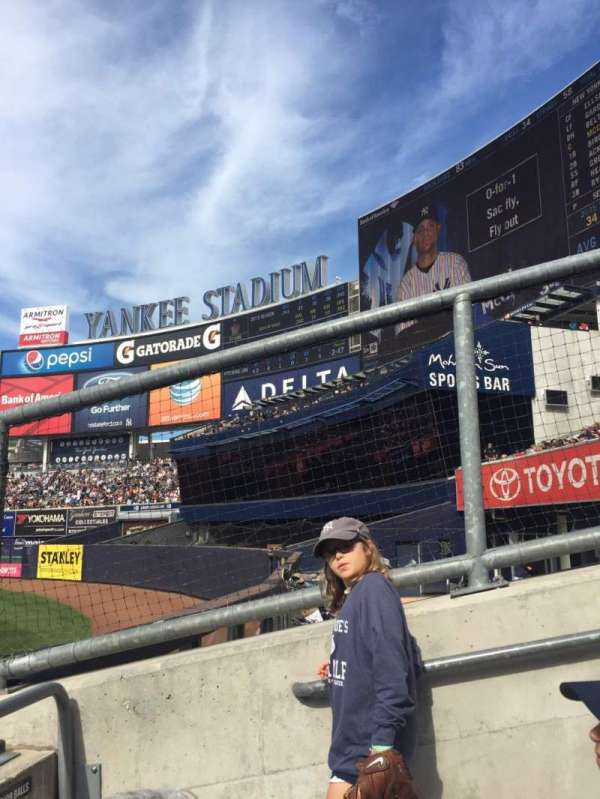 Yankee Stadium, secção: 103, fila: 10, lugar: 1