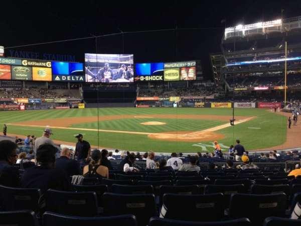 Yankee Stadium, secção: 121A, fila: 21, lugar: 6