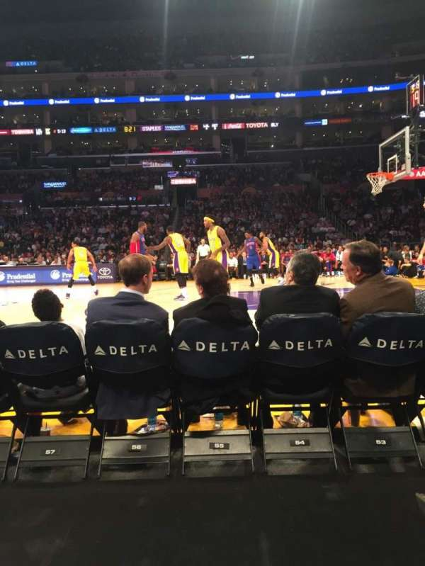 Staples Center, secção: 110CT, fila: B, lugar: 15