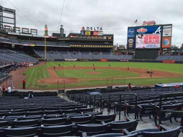 Turner Field, secção: 105L, fila: 27, lugar: 3