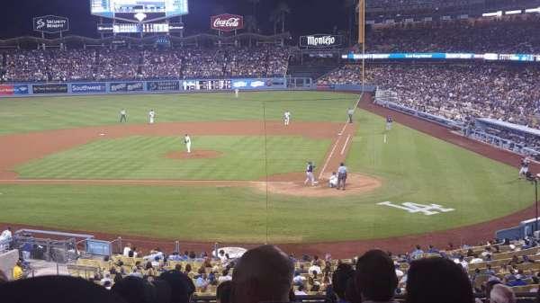 Dodger Stadium, secção: 117lg, fila: J, lugar: 2