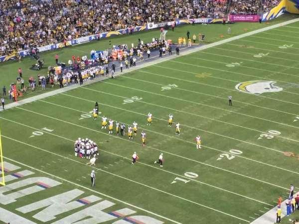 San Diego Stadium, secção: V, fila: 27, lugar: 8