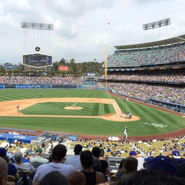 Dodger Stadium, secção: 121LG, fila: H, lugar: 5