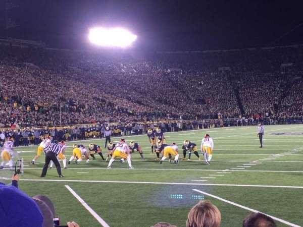Notre Dame Stadium, secção: Fl18, fila: F, lugar: 1