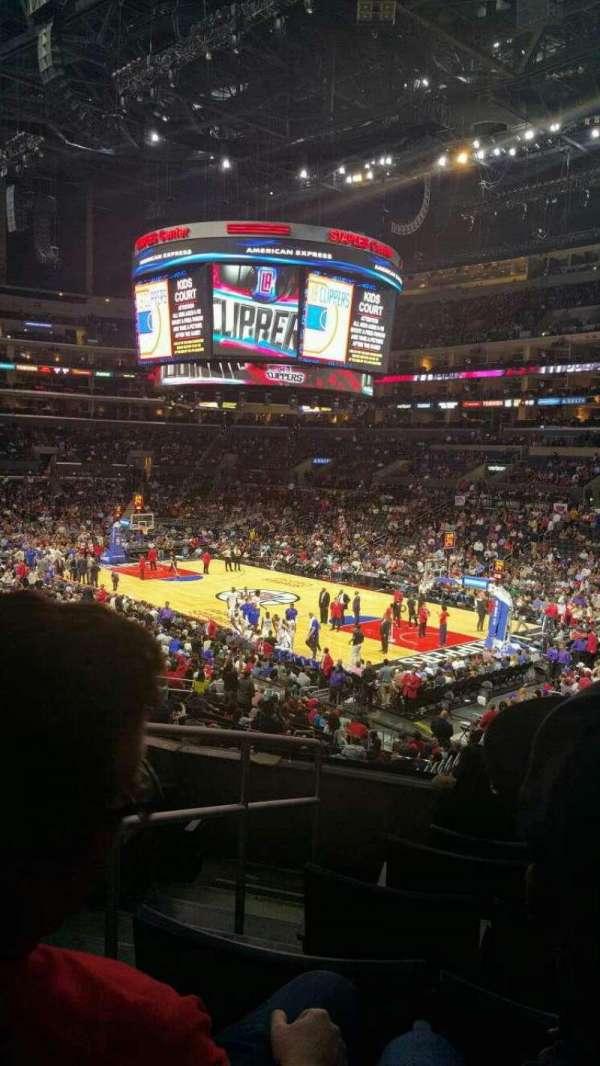 Staples Center, secção: PR1, fila: 6, lugar: 12