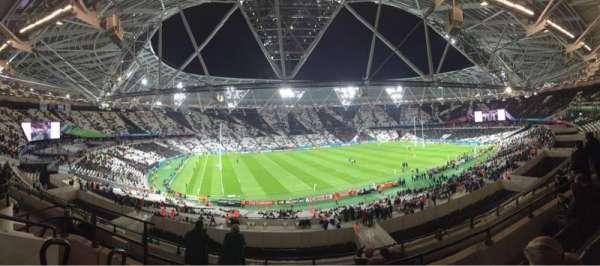 London Stadium, secção: 204, fila: 53, lugar: 544