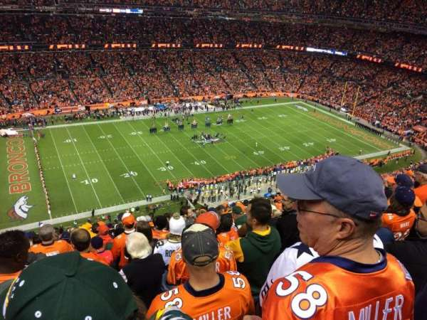 Broncos Stadium at Mile High, secção: 538, fila: 20, lugar: 14