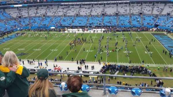 Bank of America Stadium, secção: 513, fila: 1A, lugar: 14