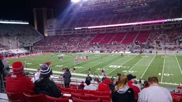 Ohio Stadium, secção: 16A, fila: 18, lugar: 20
