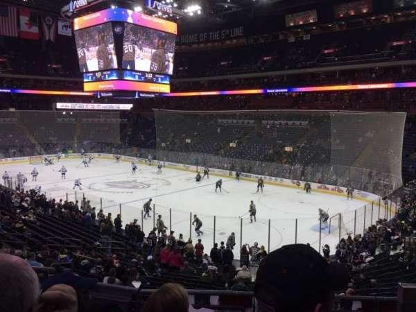 Nationwide Arena, secção: 101, fila: DD, lugar: 3