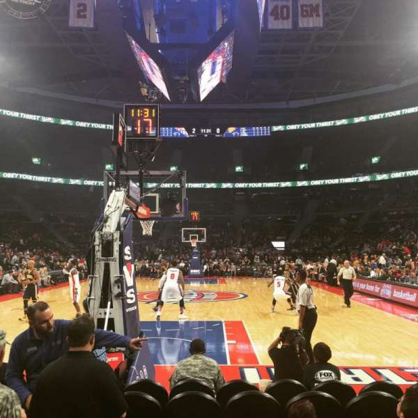 The Palace of Auburn Hills, secção: 120B, fila: AAA, lugar: 6