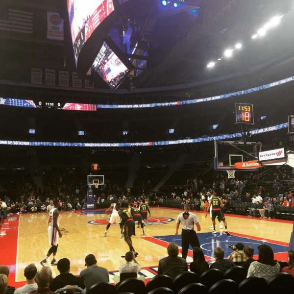The Palace of Auburn Hills, secção: 107C, fila: AAA, lugar: 5