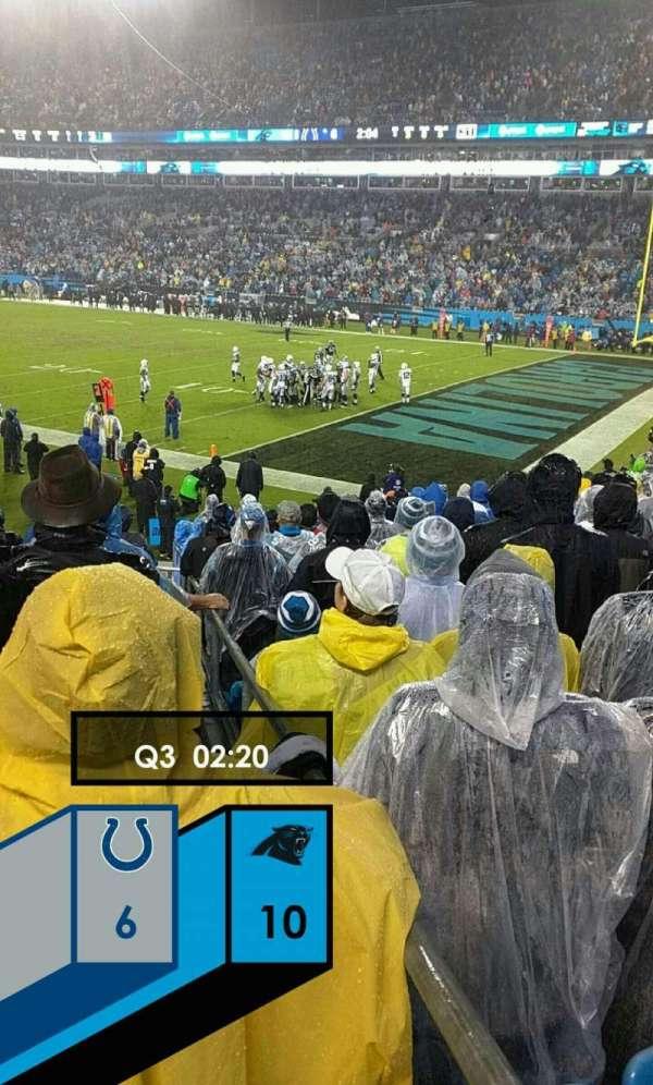 Bank of America Stadium, secção: 106, fila: 16, lugar: 11