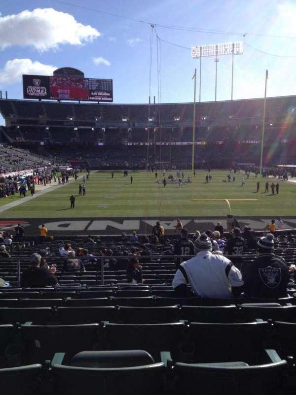 Oakland Coliseum, secção: 129, fila: 29, lugar: 8