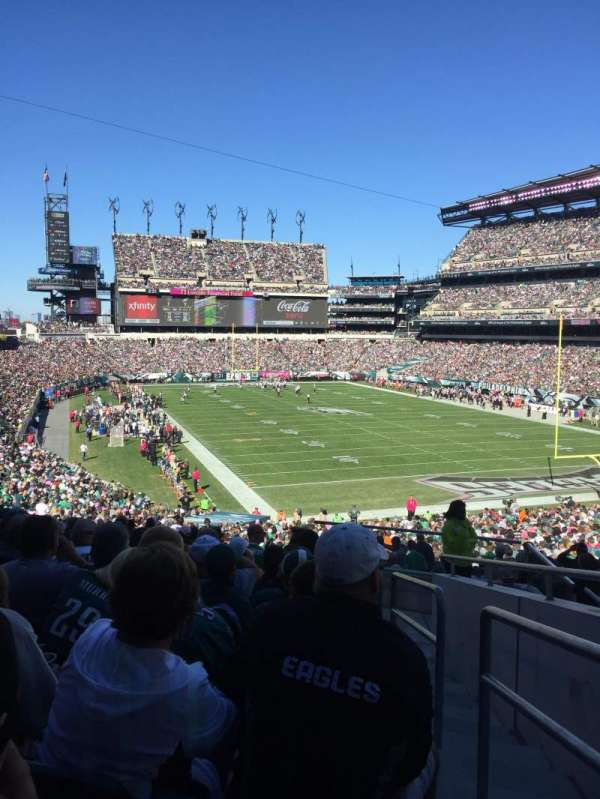 Lincoln Financial Field, secção: 108, fila: 41, lugar: 1
