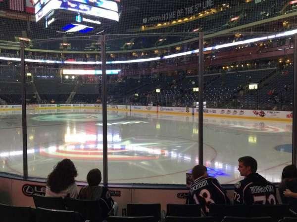 Nationwide Arena, secção: 122, fila: E, lugar: 16