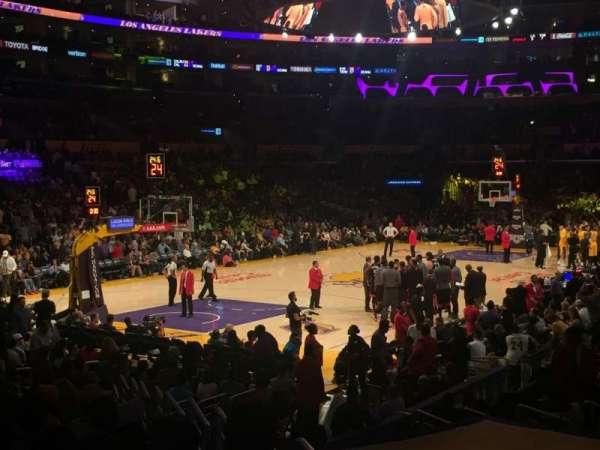 Staples Center, secção: 105, fila: 16, lugar: 4
