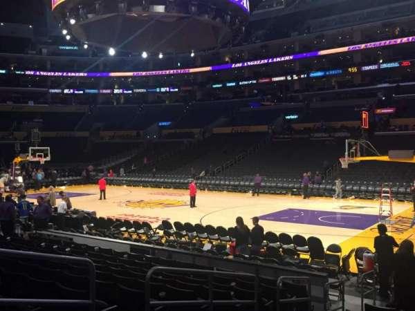 Staples Center, secção: 118, fila: 11, lugar: 8