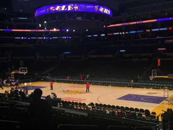 Staples Center, secção: 118, fila: 18, lugar: 12