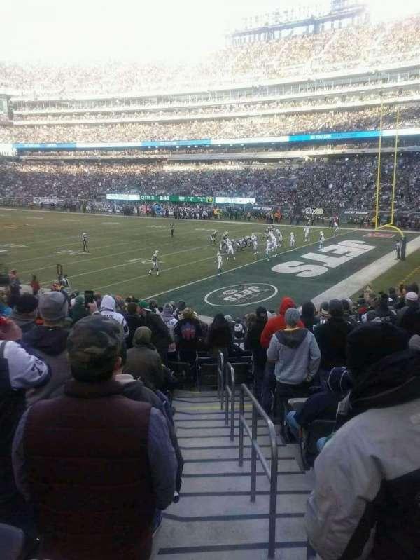 MetLife Stadium, secção: 133, fila: 20, lugar: 1