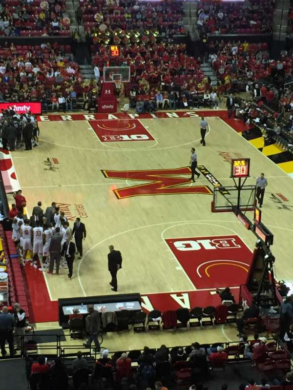 Xfinity Center (Maryland), secção: 207, fila: 4, lugar: 21