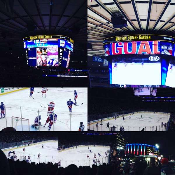 Madison Square Garden, secção: 113, fila: 18, lugar: 14