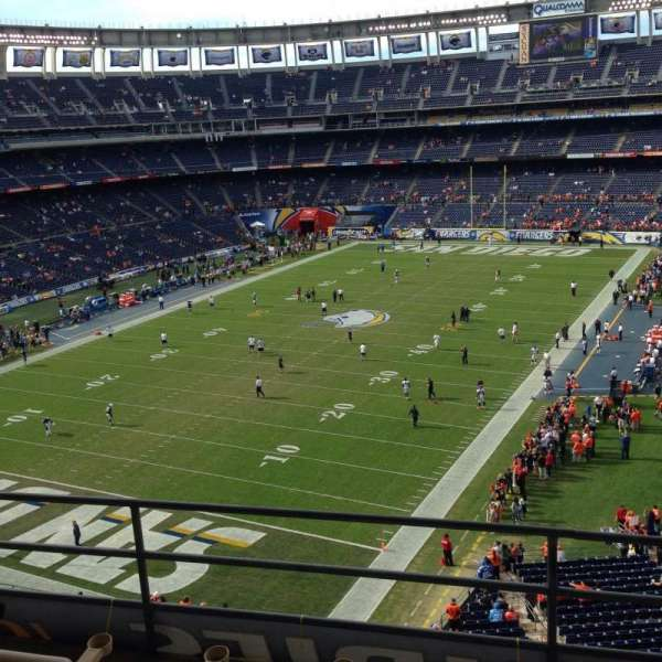 SDCCU Stadium, secção: Press 56, fila: 4, lugar: 7-8
