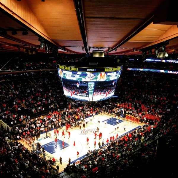 Madison Square Garden, secção: 310, fila: BS3, lugar: 1