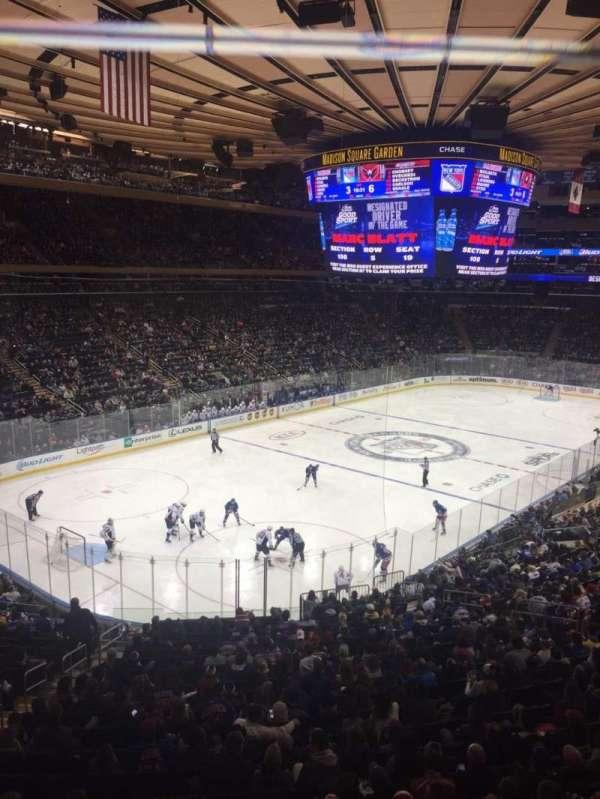 Madison Square Garden, secção: 220, fila: 1, lugar: 9