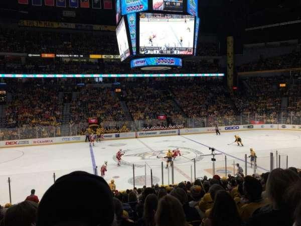 Bridgestone Arena, secção: 105, fila: H, lugar: 14
