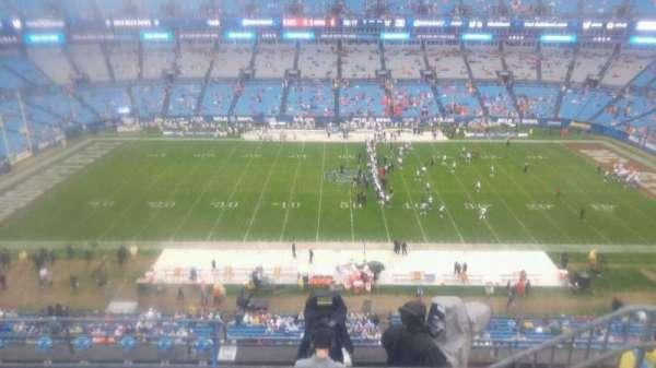 Bank of America Stadium, secção: 515, fila: 3, lugar: 9
