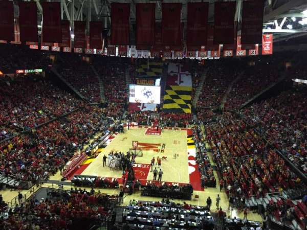 Xfinity Center (Maryland), secção: 208, fila: 5, lugar: 10