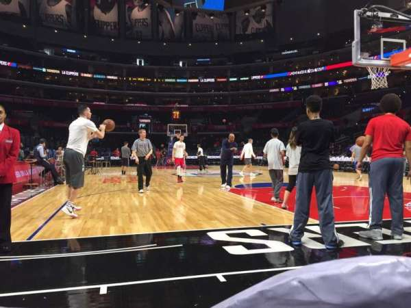 Staples Center, secção: 116, fila: 2, lugar: 7