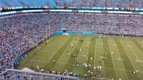 Bank of America Stadium, secção: 543, fila: 6, lugar: 24